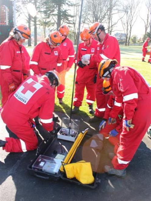 New Zealand Red Cross team members practise their life-saving skills. More volunteers are needed...