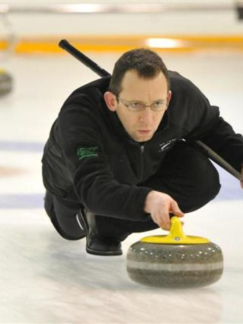 New Zealand representative Peter de Boer in action at the New Zealand championships at the...