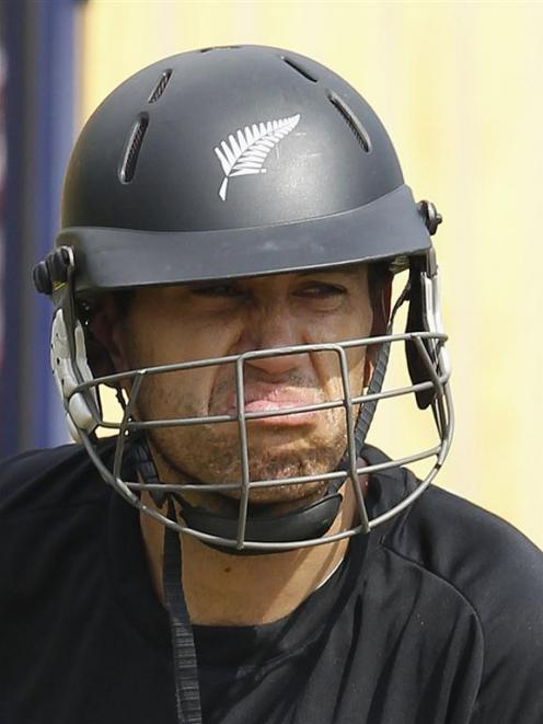 New Zealand's captain Ross Taylor during a practice session ahead of the first test against Sri...