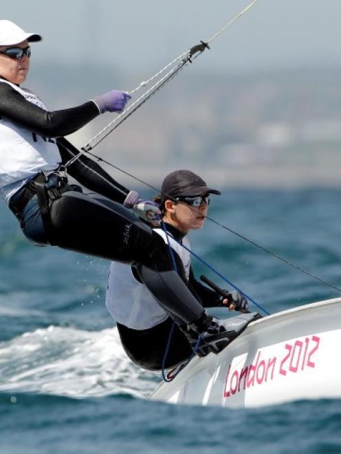 New_Zealand's Jo Aleh and Olivia Powrie. Photo by Reuters.