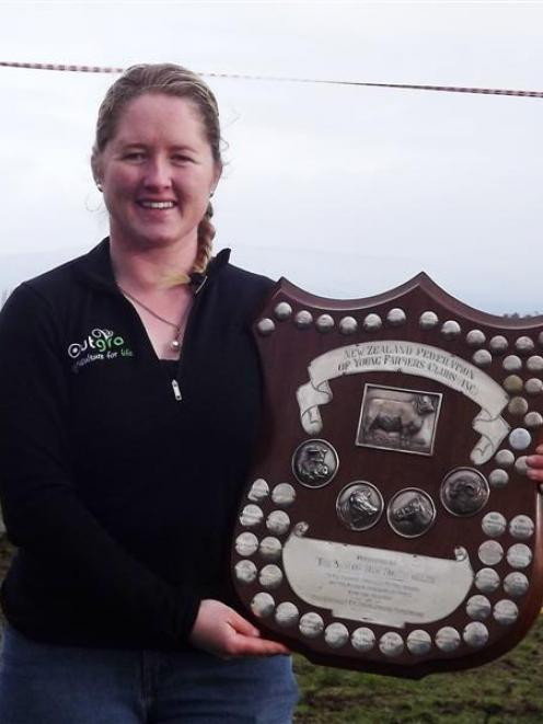 New Zealand Young Farmers national stock judging champion Olivia Ross. Photo supplied.