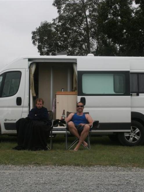 Nigel Benson (also pictured at left) and Pieter van de Klundert (both of Dunedin) on their...