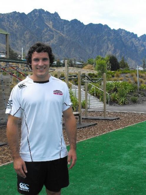 North Harbour sevens player Luke Devcich in Queenstown yesterday. The former Otago 15s...