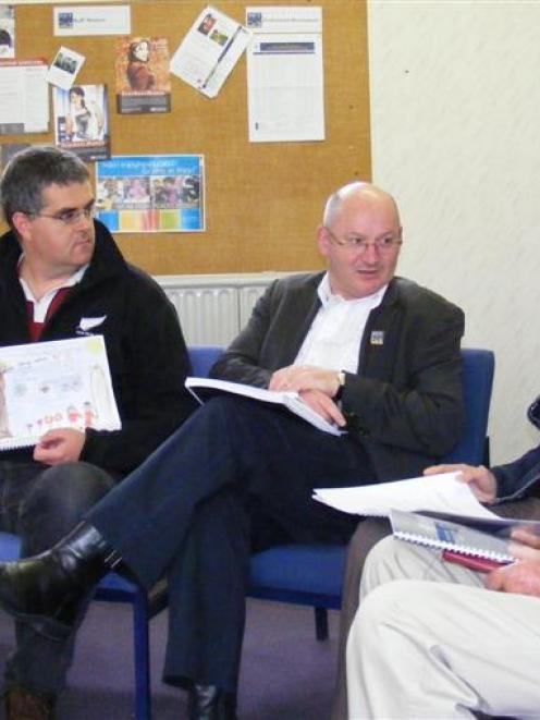 Northeast Valley Community Development Project team members (from left) Jan Hudson, Steve O...