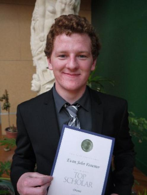 NZQA top scholar Evan Fenemor, formerly of Kavanagh College. Photo supplied.