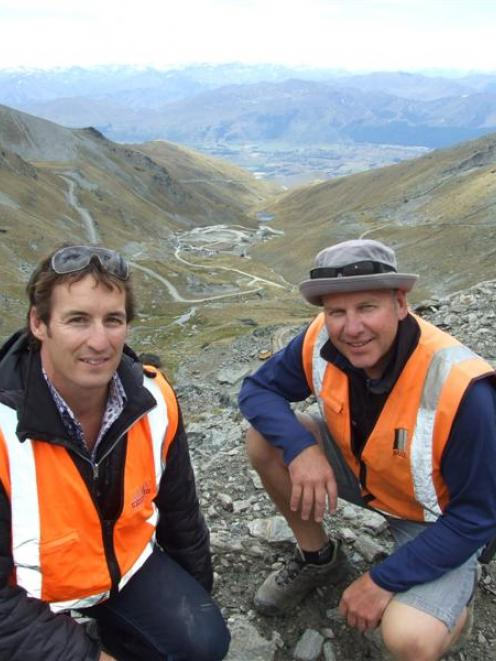 NZSki chief executive Paul Anderson (left) and Remarkables ski area manager Ross Lawrence oversee...