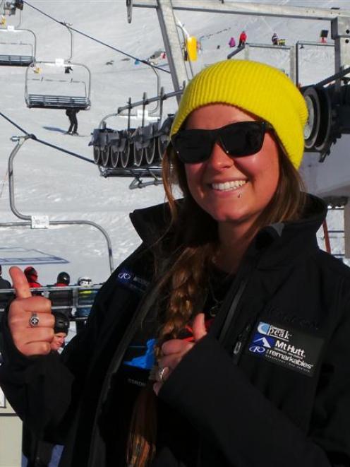 NZSki lift operator Brooke Steinkopf (22), of the United States. Photo supplied.