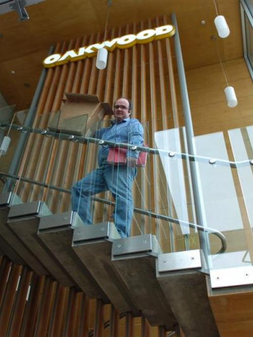 Oakwood Properties director David Marsh inspects the refurbished former Scott Technology building...