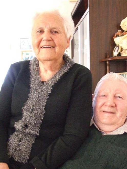 Oamaru couple Aura and George James celebrate their diamond wedding anniversary today. Photo by...