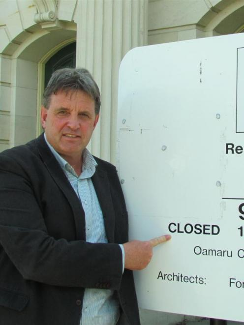 Oamaru lawyer Phil Hope outside the Oamaru District Courthouse, which faces the closure of its...