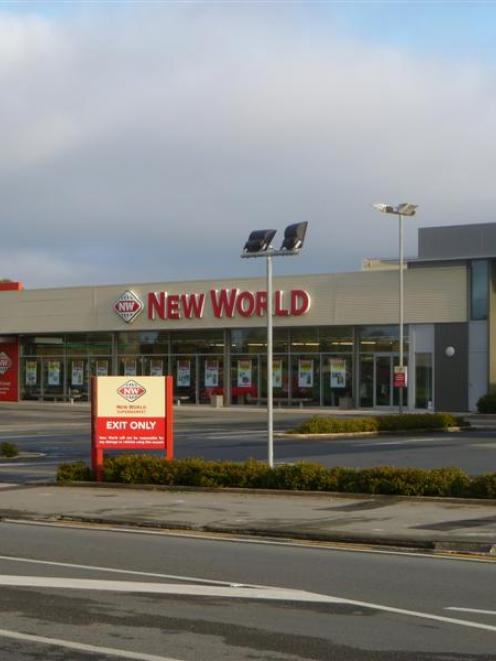 Oamaru New World in south Oamaru was open for business as usual after four staff were confronted...