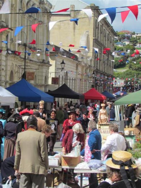 Oamaru's Victorian precinct was a hive of activity at the Oamaru Victorian Fete on Sunday. Photo...