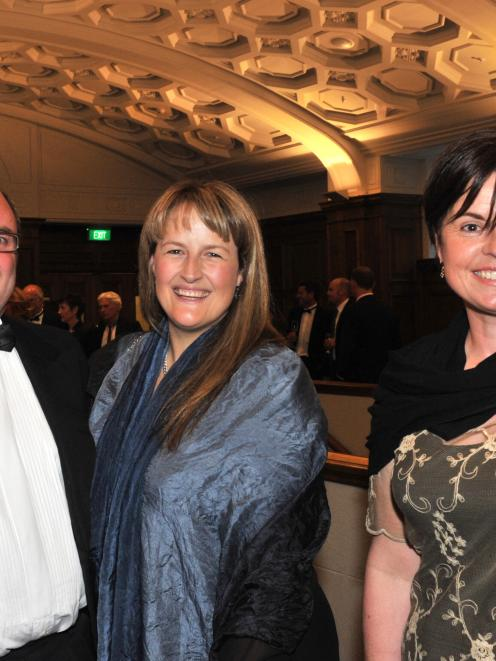 OBiz supreme winner, Simon Berry, of Whitestone Cheese, his wife Annabel Berry (centre), of...