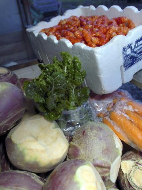ODT file photo of vegetables.