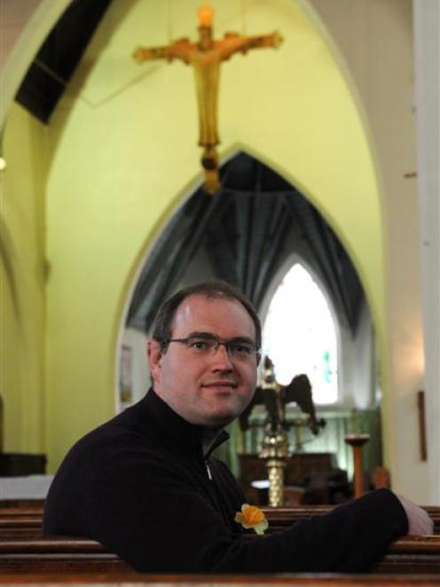 Old Testament scholar and Anglican priest The Rev Dr James Harding at his parish, All Saints...