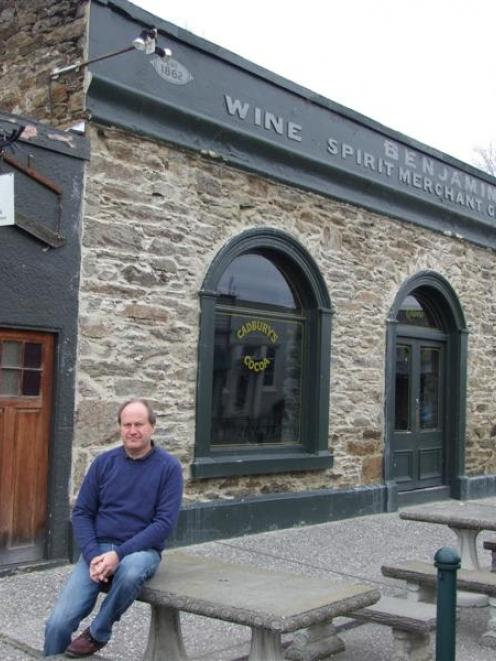 Oliver's co-owner David Ritchie outside the historic complex at Clyde. Photo by Lynda van Kempen.