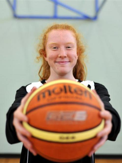 Olivia O'Neill is the only Otago girl in the New Zealand under-16 basketball team. Photo by...