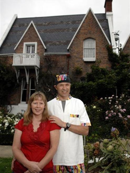 Olivia Richmond-Johnston and Alan Johnston in the garden of their B&B and restaurant, Lisburn...