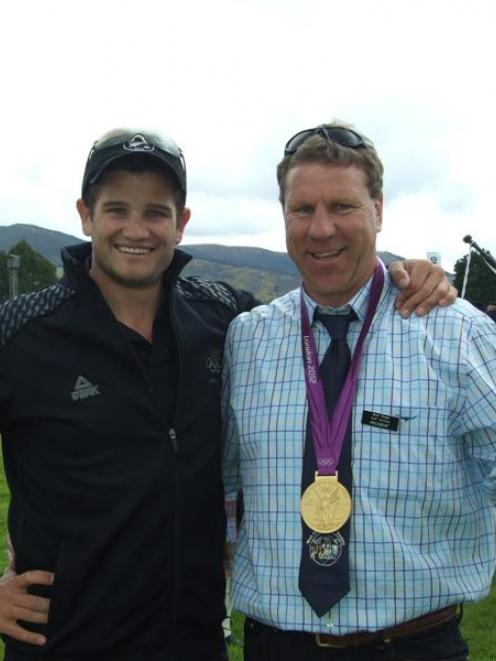 Olympic gold medallist Nathan Cohen lent his gold medal to  show  president Brian Falconer....