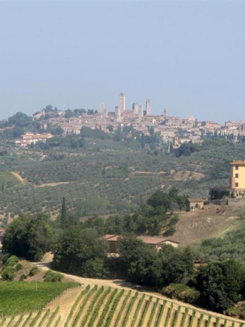 On the way to San Gimignano. Photos by Simon Cunliffe.