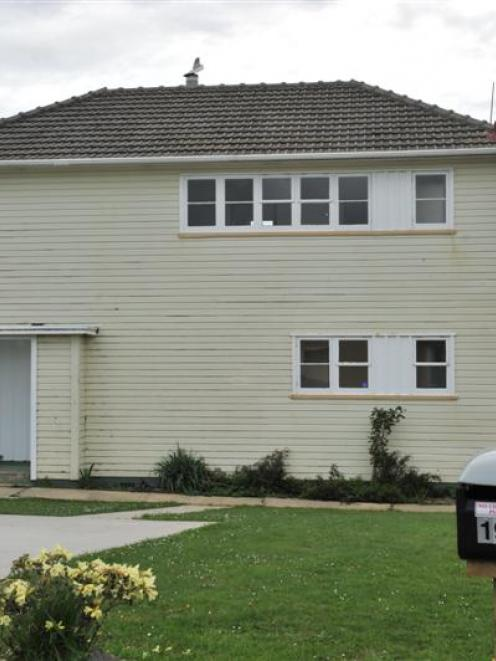 One of the nine state houses that have so far been sold by Housing New Zealand in Dunedin. Photo...