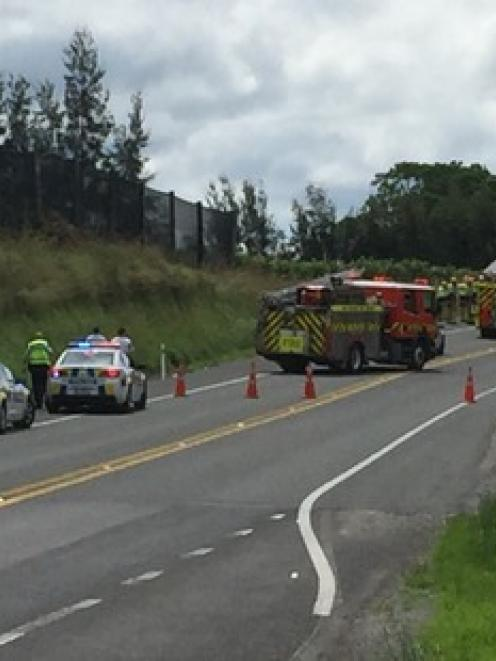 One person is dead after a collision on State Highway 2 in Whakamarama in the Bay of Plenty....