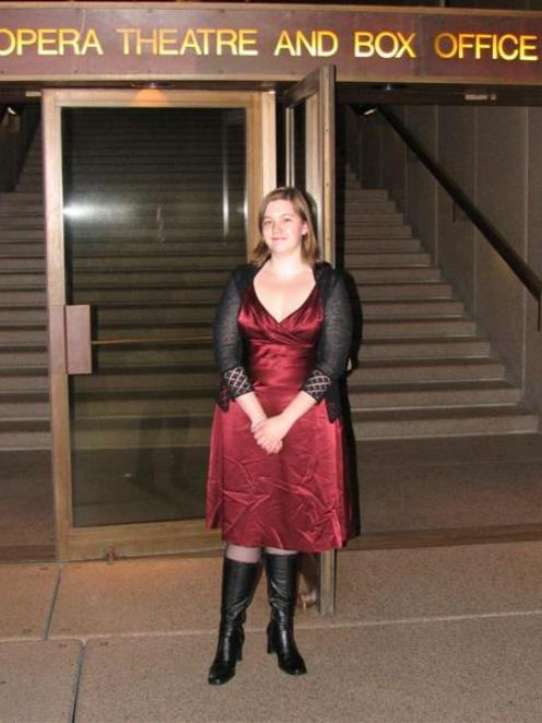 Opera fan Sarah Noble attends another opening night.