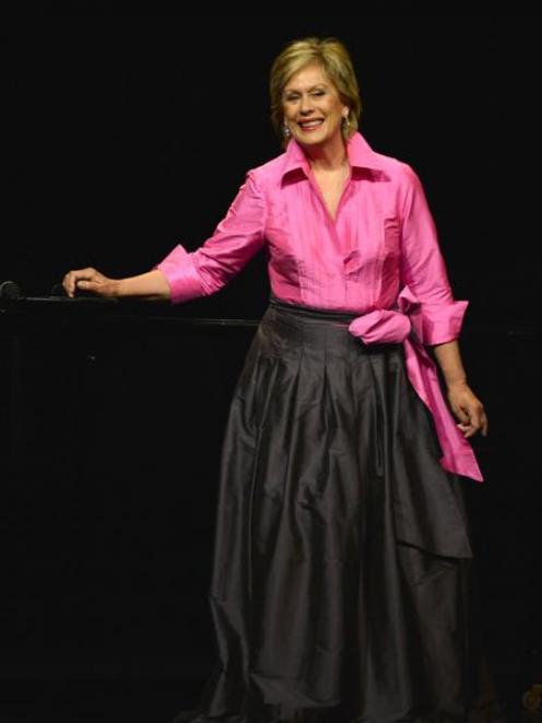 Dame Kiri Te Kanawa on stage in the Oamaru Opera House last night. Photo by Peter McIntosh.