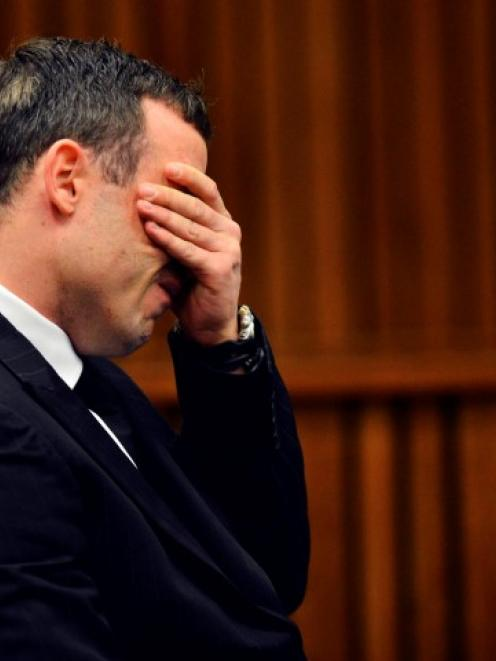 Oscar Pistorius in the dock in the North Gauteng High Court in Pretoria. REUTERS/Phill Magakoe/Pool