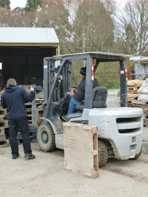 Otago-based offenders on community sentence train for forklift-driving qualifications. Photo...
