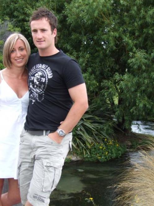 Otago batsman Neil Broom and his girlfriend, Melissa Dawkins, take in the news of Broom's call-up...