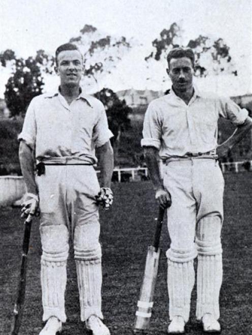 Otago batsmen Alec Knight and Roger Blunt. Photos supplied.