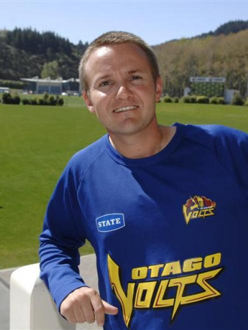 Otago coach Mike Hesson relaxes at the University Oval in Dunedin this week after returning from...
