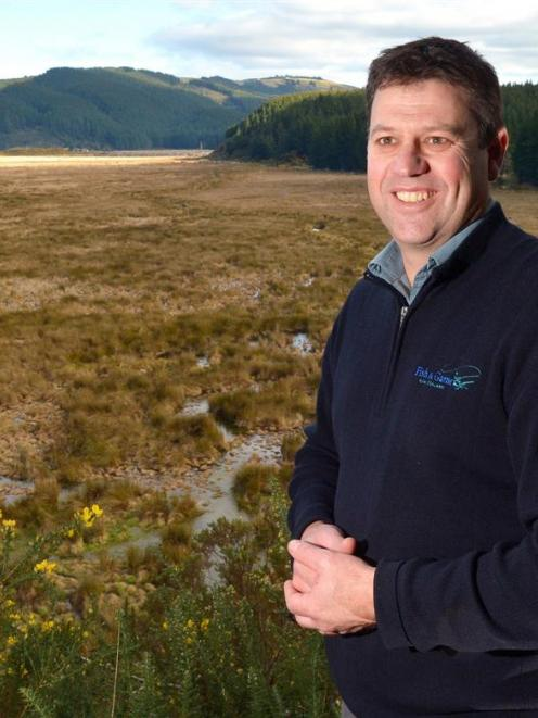 Otago Fish and Game operations manager Ian Hadland looks forward to starting work on reflooding...