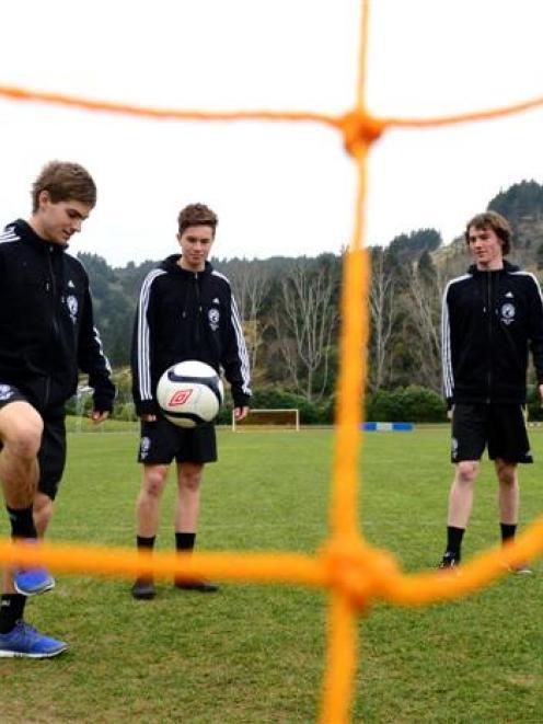Otago Milk Cup representatives (from left) Finn Moore, Finn Cochran, Cowan Fearn and Jake Johnson...