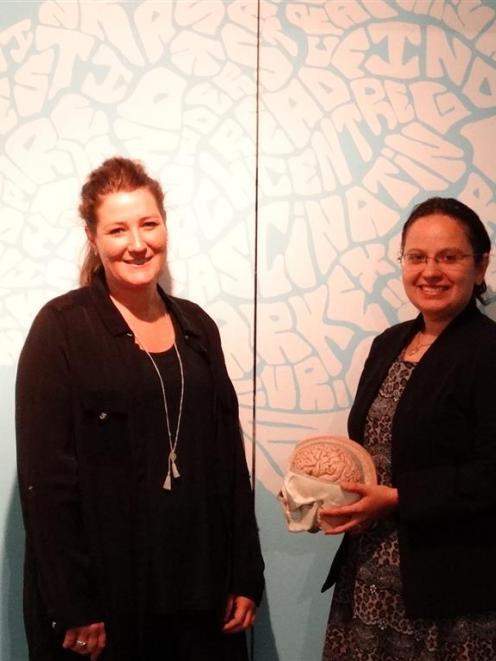 Otago Museum public engagement manager Rachel Cooper (left) and planetarium manager Oana Jones...