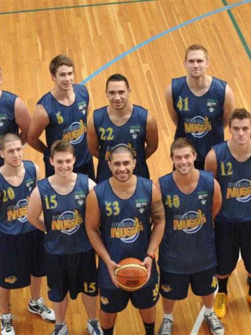 Otago Nuggets (back row from left) Sam King, Tom Rowe, Riki Buckrell, Lance Allred and Mark...