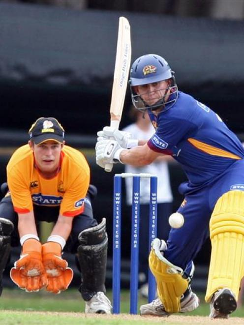 Otago opener Craig Cumming plays a shot in his side's State Shield clash against Wellington in...