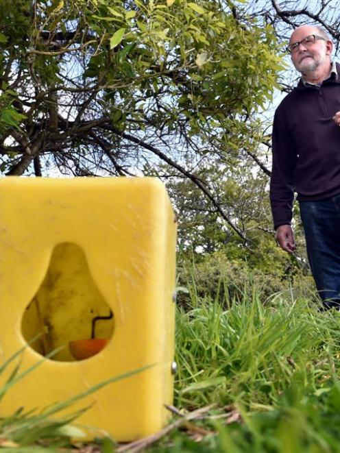 Otago Peninsula Biodiversity Group trustee David Chalmers is part of a trapping project that has...
