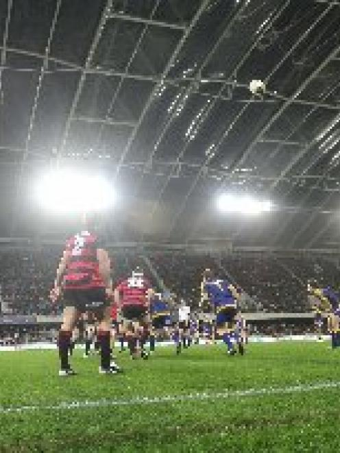 Otago plays Canterbury in an ITM Cup match at Forsyth Barr Stadium last August. Photo by Craig...