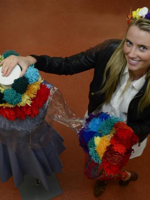 Otago Polytechnic fashion design student Georgia Ferguson (20) is about to spend a semester...