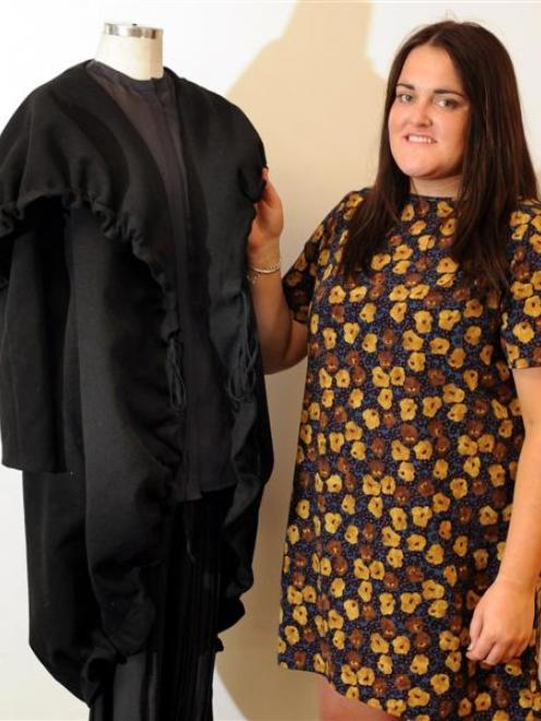 "Otago Polytechnic School of Design fashion graduand Emily Scott puts together a ""commercial..."