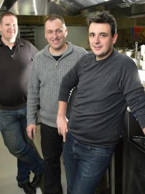 Otago  Polytechnic staff (from left)  Richard Mitchell, Tony Heptinstall and  Adrian Woodhouse,...