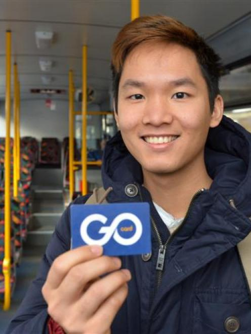 Otago Polytechnic student Ken Ha is a regular bus user who supports an Otago Regional Council...
