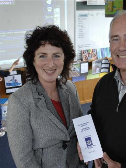 Otago Primary Principals Association executive member Ros McQuillan-Mains and Community Trust of...