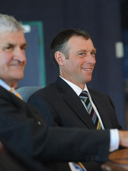 Otago Regional Council chairman Stephen Woodhead (right) and his deputy, David Shepherd. Photo by...