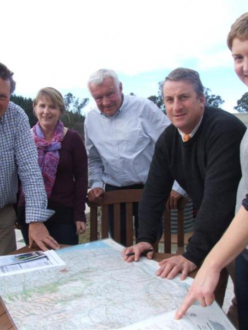 Otago Rural Support Trust chairman Gavan Herlihy (left), co-ordinators Jodelle Leatham and David...