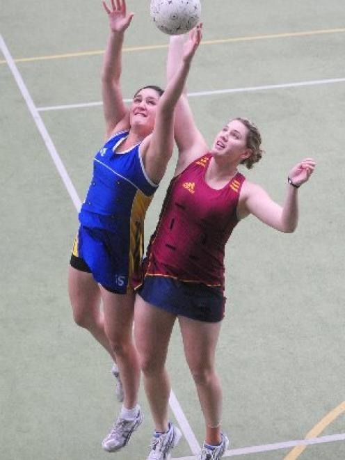Otago's Te Paea Selby-Rickit (left) and Southland's Te Huinga Reo Selby-Rickit competing at the...