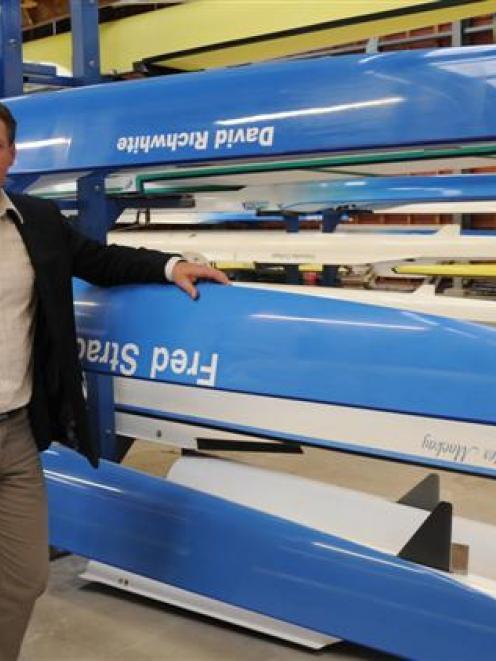 Otago University Students Association Aquatics Centre director Glen Sinclair inspects the boats....