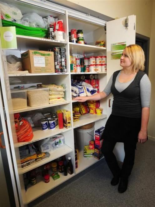 Otago University Students' Association president Harriet Geoghegan inspects the association's...